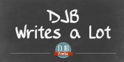 DJB Writes A Lot font download