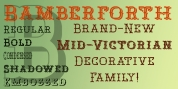 Bamberforth font download
