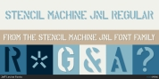 Stencil Machine JNL font download