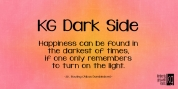 KG Dark Side font download