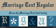 Marriage Text font download