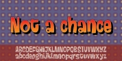 Not a chance font download