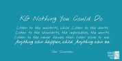 KG Nothing You Could Do font download