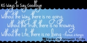 KG Ways to Say Goodbye font download