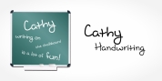 Cathy Handwriting font download