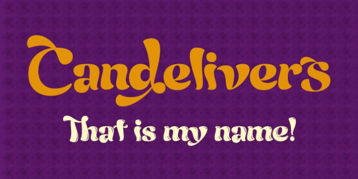 Candelivers font preview