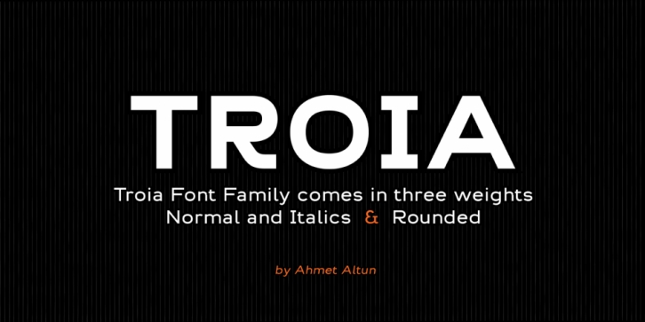 Troia font preview