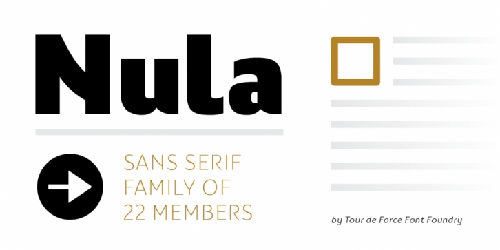Nula font preview