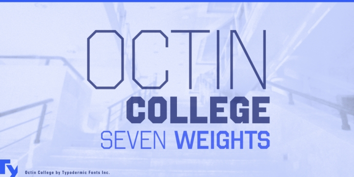 Octin College font preview