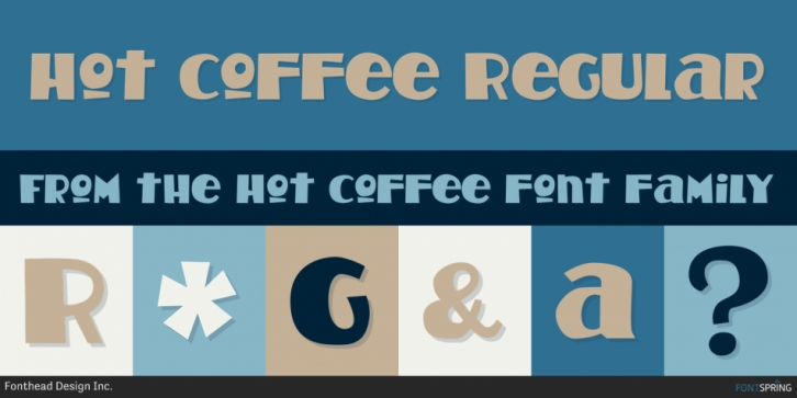 Hot Coffee font preview