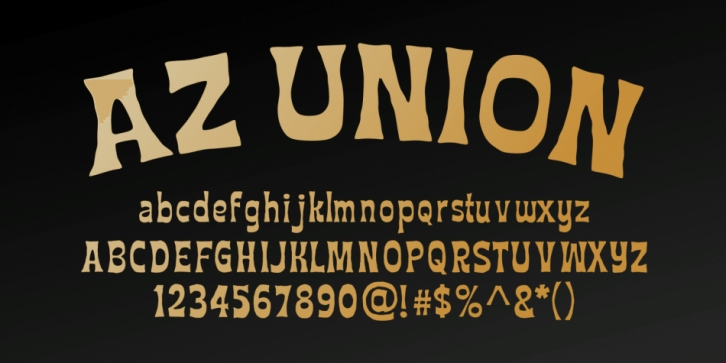 AZ Union font preview