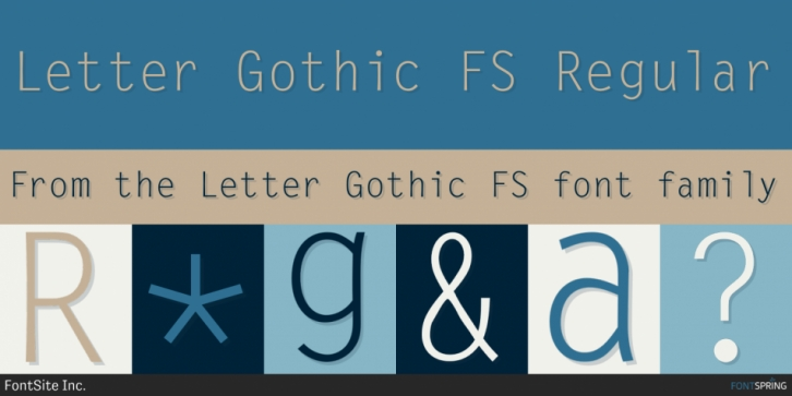 Letter Gothic FS font preview
