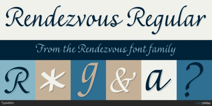 Rendezvous font preview