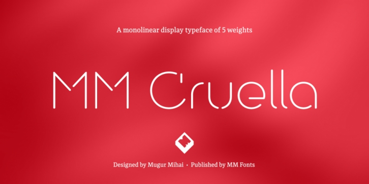 MM Cruella font preview