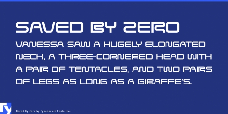 Saved By Zero font preview