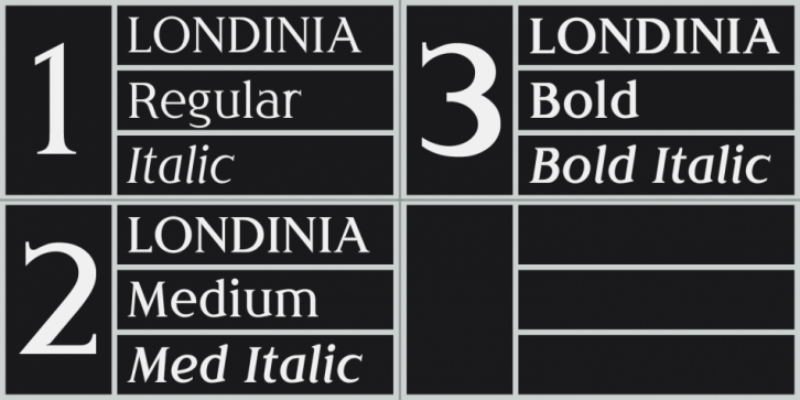 Londinia font preview
