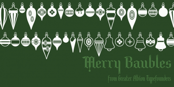 Merry Baubles font preview
