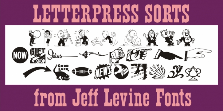 Letterpress Sorts JNL font preview