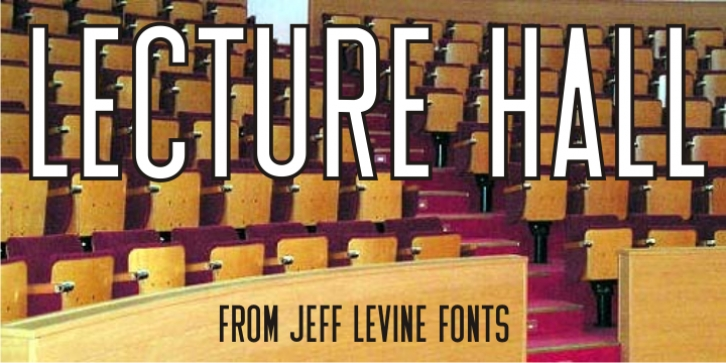 Lecture Hall JNL font preview