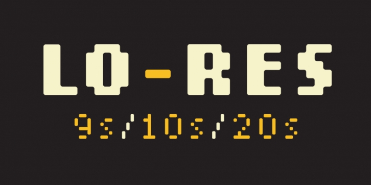 Lo-Res font preview