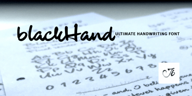 blackHand font preview
