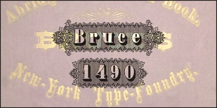 Bruce 1490 font preview