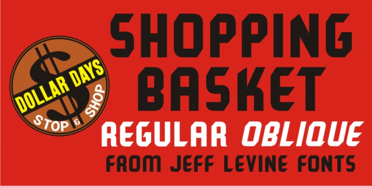 Shopping Basket JNL font preview
