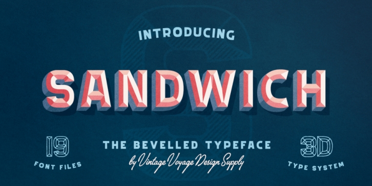 Sandwich 3D System font preview