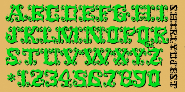 ShirleyUJest font preview