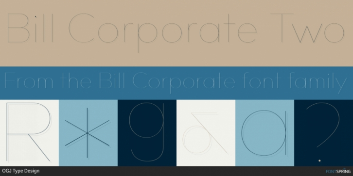 Bill Corporate font preview