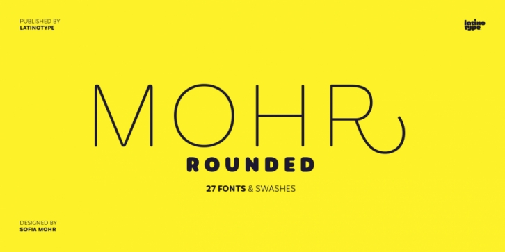 Mohr Rounded font preview
