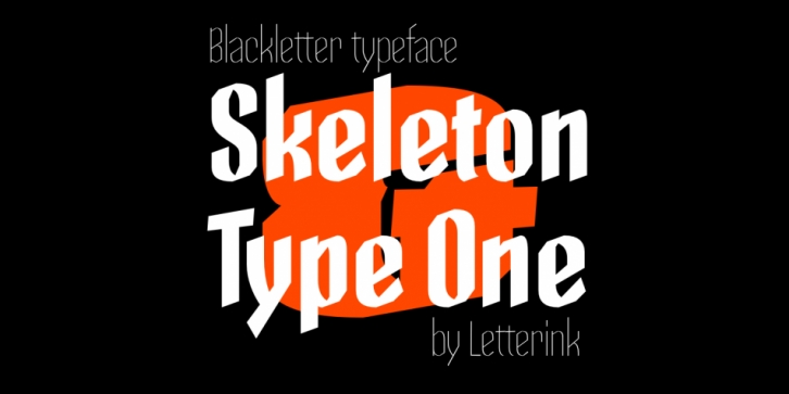 Skeleton Type One font preview
