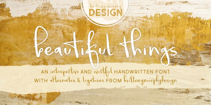 Beautiful Things font preview
