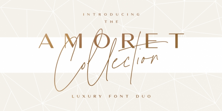 The Amoret Collection font preview