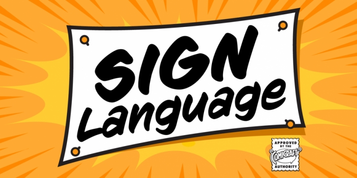 Sign Language font preview