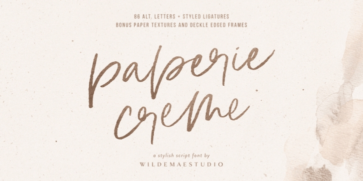 Paperie Creme font preview