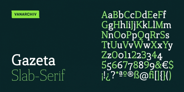 Lisboa Slab font preview