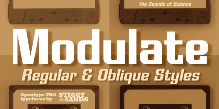 Modulate font preview