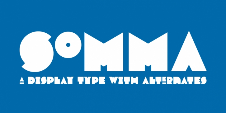 Somma font preview