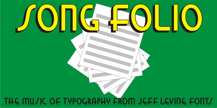 Song Folio JNL font preview