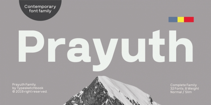 Prayuth font preview