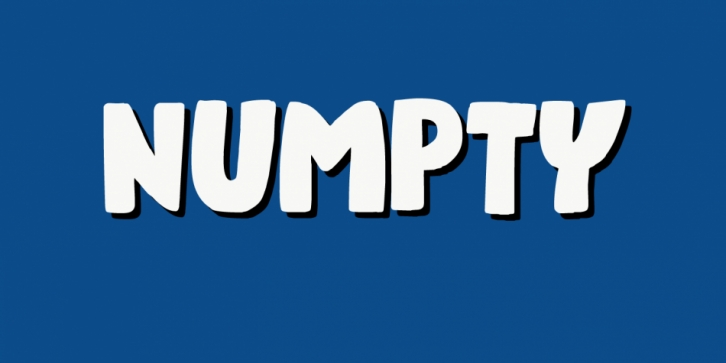 Numpty font preview