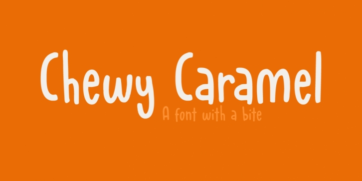 Chewy Caramel font preview