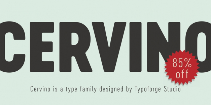 Cervino font preview