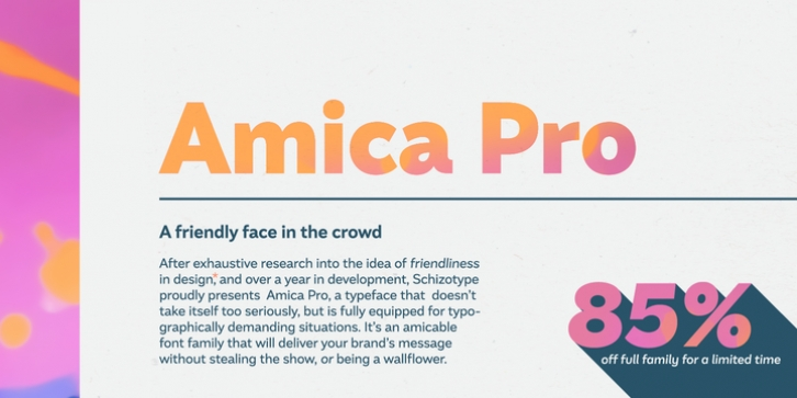 Amica Pro font preview