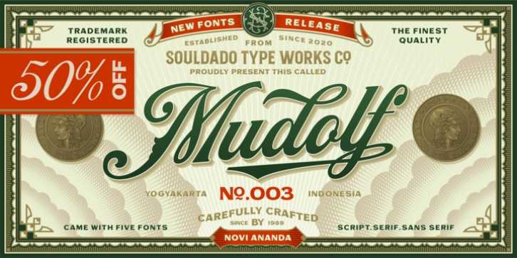 NS Mudolf font preview