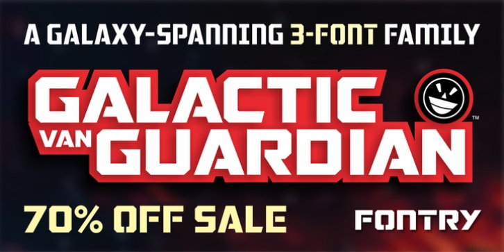 FTY Galactic VanGuardian font preview