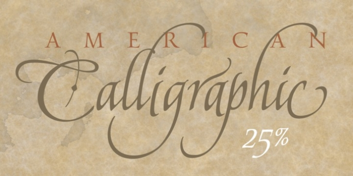 American Calligraphic font preview