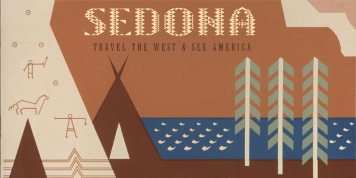 Sedona font preview