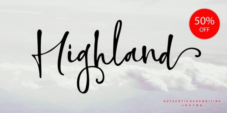 Highland Script font preview